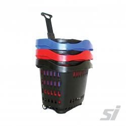 Roller Shopping Baskets 43L
