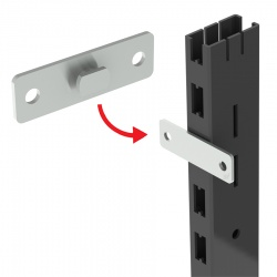 Gondola Wall Fix Bracket - Zinc