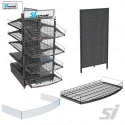 P&C Clear Risers for Shelves