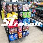 Versa Black Shop Shelving in Convenience Store