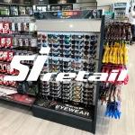 Versa Black Retail Shelving in Caltex