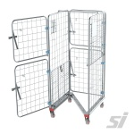 Open Stock Trolley Cage on Wheels