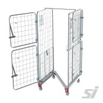 Fully open on both sides - rolling stock cage trolley