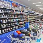 Black retail shop shelving
