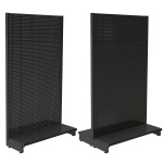 Pegboard retail shop shelving for wall bays or aisles