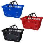 28L Large Shopping Baskets in Blue, Black or Red