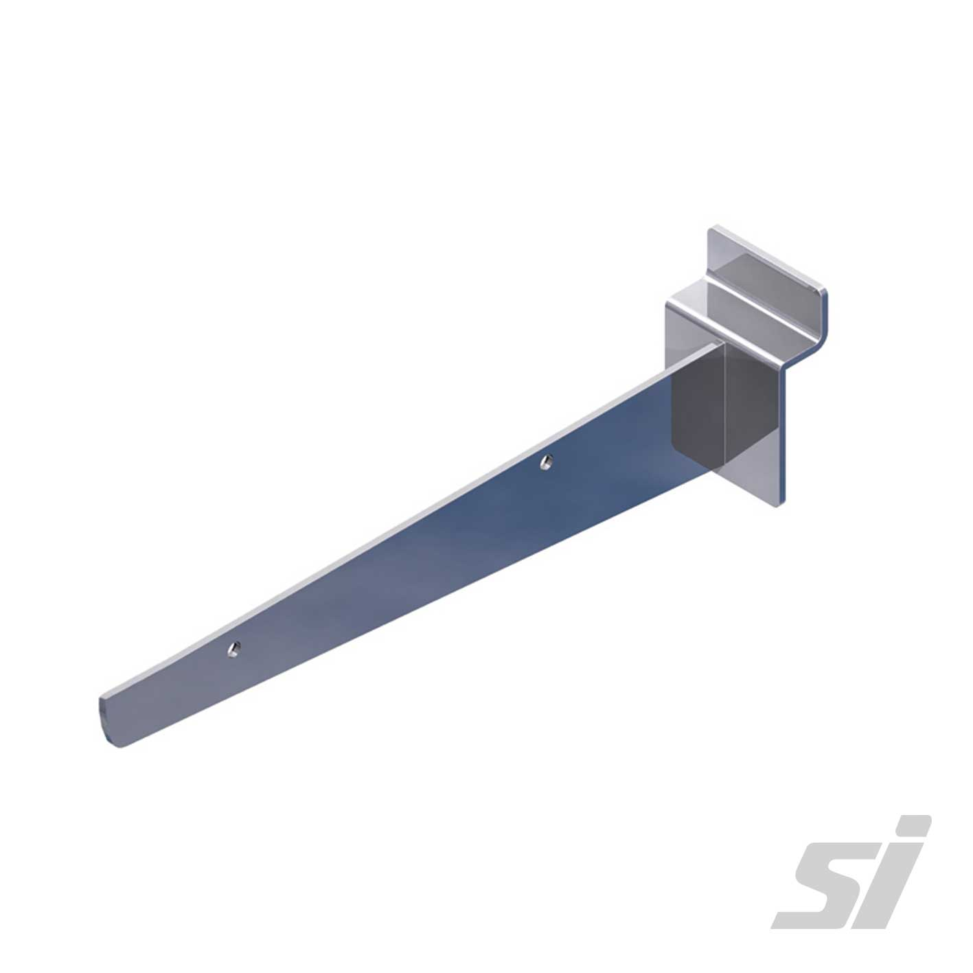 Slatwall Straight Shelf Brackets - Chrome