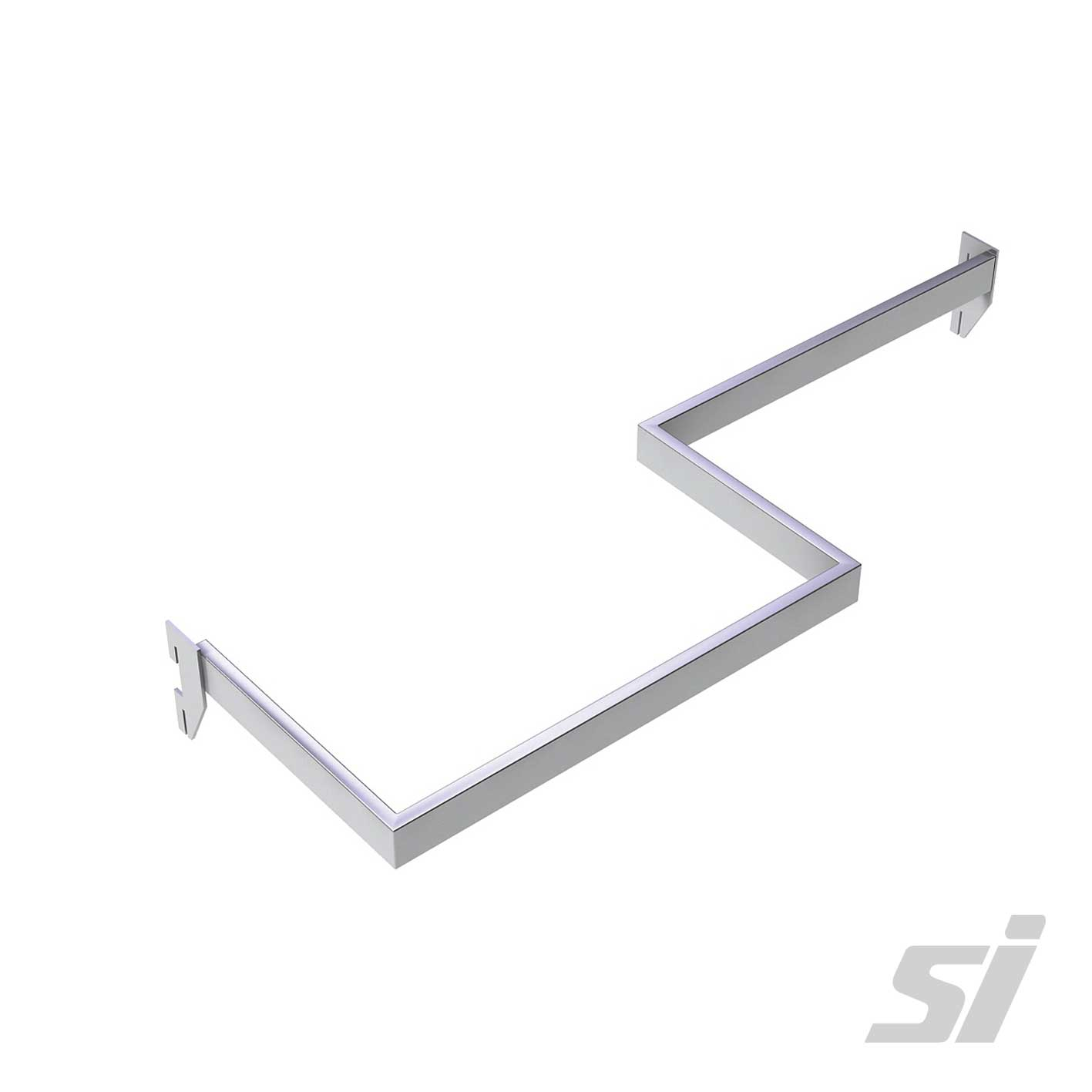 Wall Strip Left Z Bar 1200x300x12mm Chrome