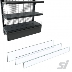 Clear Risers for 914mm Shelves
