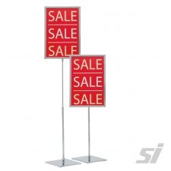 A4 Metal Ticket Frame Stand Kit (Fixed Pole 300mm)